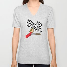 RAZOR CROSSWORD Unisex V-Neck