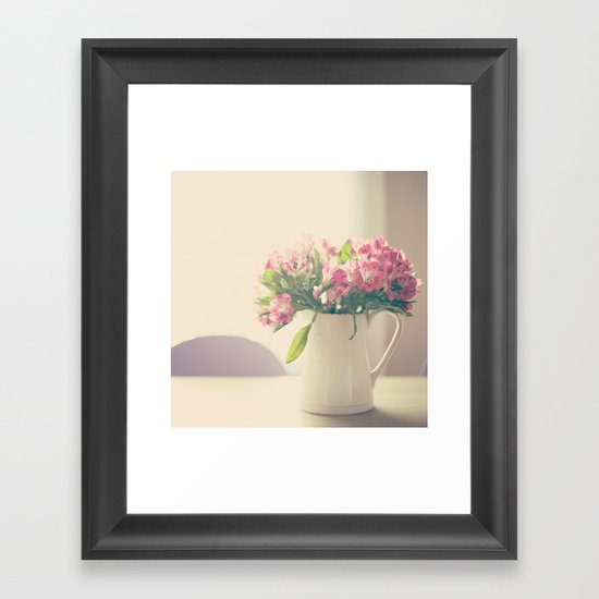 Mother's Flowers Arrangement  Framed Art Print