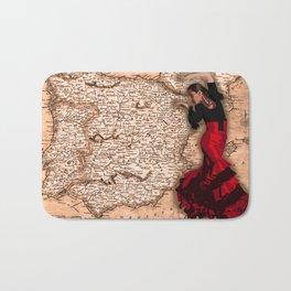 bailarína de flamenco Bath Mat