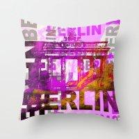 berlin Throw Pillows featuring Berlin  by LebensART