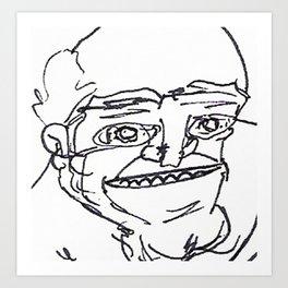 Mr Weirdface Art Print