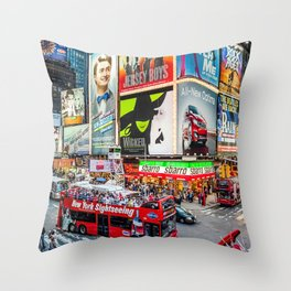 Times Square II Special Edition III Throw Pillow