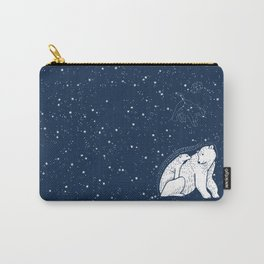 Polar Bear and Constellation Arctic Night Sky Stars Carry-All Pouch