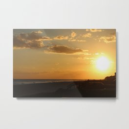 Sun At Holden Beach Metal Print