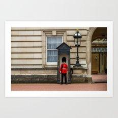 Buckingham Palace Guard Art Print