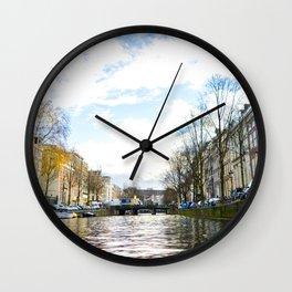 Amsterdam photo view Wall Clock