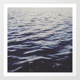 Eternal Blue Waves Art Print