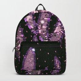 Orchid Pink Lavender Sequin Knit Backpack