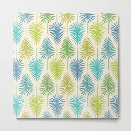 Retro Tropical Nature Print Metal Print