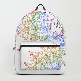 Rainbow Mandala Urban Decay Style - Vintage, Aged Pattern Backpack