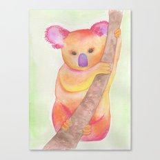 Colorful Koala Canvas Print