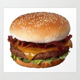 Bacon Burger Art Print