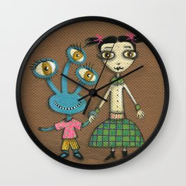 Jane & Mindy Wall Clock