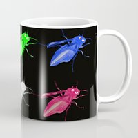 insects Mugs featuring Neon insects by LoRo  Art & Pictures