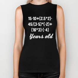 17 Years Old Algebra Equation Biker Tank