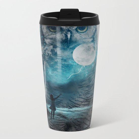 OWL / MOON BALLOON Metal Travel Mug