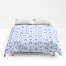 Winter Penguins // Blue Comforters