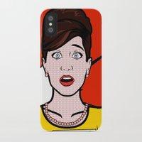 lichtenstein iPhone & iPod Cases featuring Cheryl Carol Charlene Lichtenstein by turantuluy