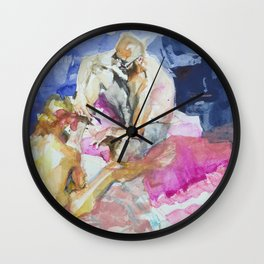 sea sketches 6 Wall Clock