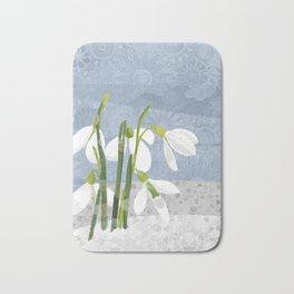 Snowdrops Bath Mat