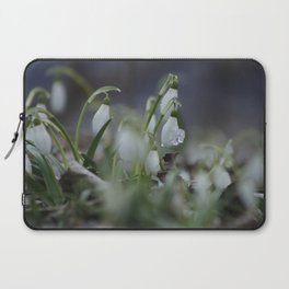 snow drop flowers with ice melting from them Laptop Sleeve