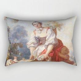 Jean-Honore Fragonard - The Joys of Motherhood Rectangular Pillow
