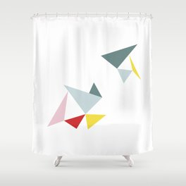 Triangles in the Sky Shower Curtain