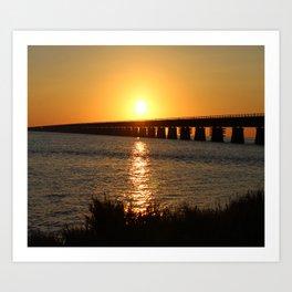 7 Mile Bridge Art Print