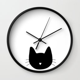 Cat Face Funny Cute Animal Halloween Costume Wall Clock