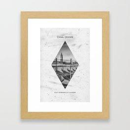 Coordinates VENICE Grand Canal Framed Art Print