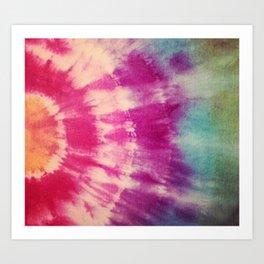 Dye layers Art Print