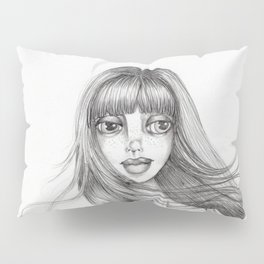 JennyMannoArt Graphite Drawing/Abbey Pillow Sham