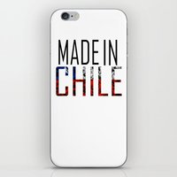 chile iPhone & iPod Skins featuring Made In Chile by VirgoSpice