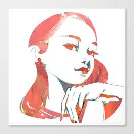 Pink girl Canvas Print