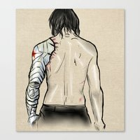 the winter soldier Canvas Prints featuring Winter Soldier by H Person