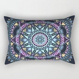 Blue Bohohemian Pattern Rectangular Pillow