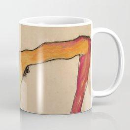 "Egon Schiele ""Male Nude, Propping Himself Up"" Coffee Mug"