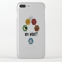 Settlers of Catan - ore what? Clear iPhone Case