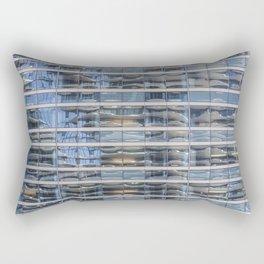 Aqua Tower Reflection Rectangular Pillow