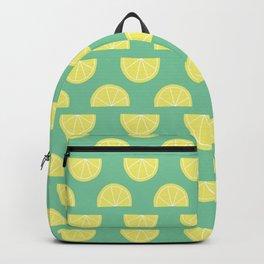 Lemon Halves On Green Backpack