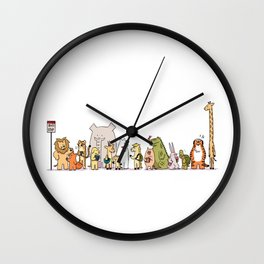 At The Bus Stop Wall Clock