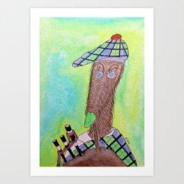 Scottish deerhound Art Print