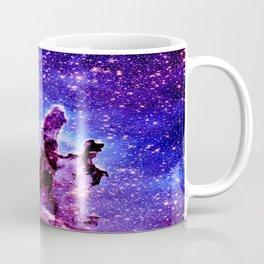 Galaxy Nebula : Pillars of Creation Purple Blue Coffee Mug