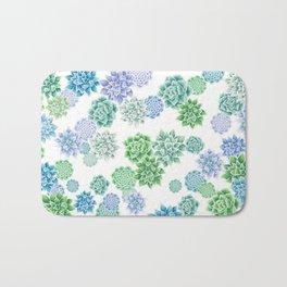 Floral succulent pattern Bath Mat
