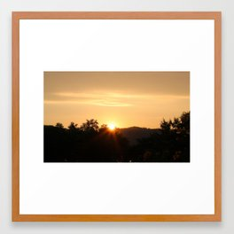 Jaipur Sunset Framed Art Print