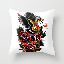 Eagle serpent Throw Pillow