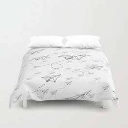 Paper Airplane 9 Duvet Cover