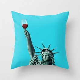 Liberty of drinking Throw Pillow