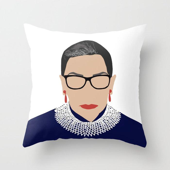 Ruth Bader Ginsburg RBG Throw Pillow