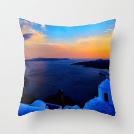 Santorini 26 Throw Pillow